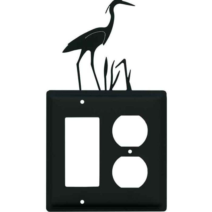 Heron Combination GFCI Rocker / Duplex Outlet Wall Plates