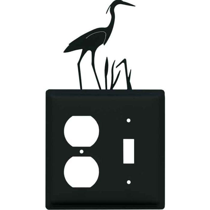 Heron 1-Duplex / 1-Toggle - Combination Wall Plates