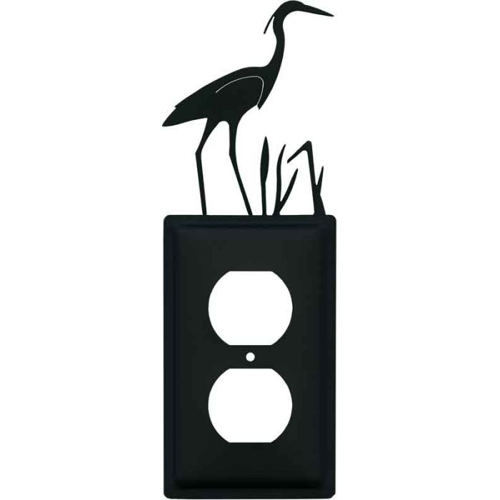 Heron 1 Gang Duplex Outlet Cover Wall Plate