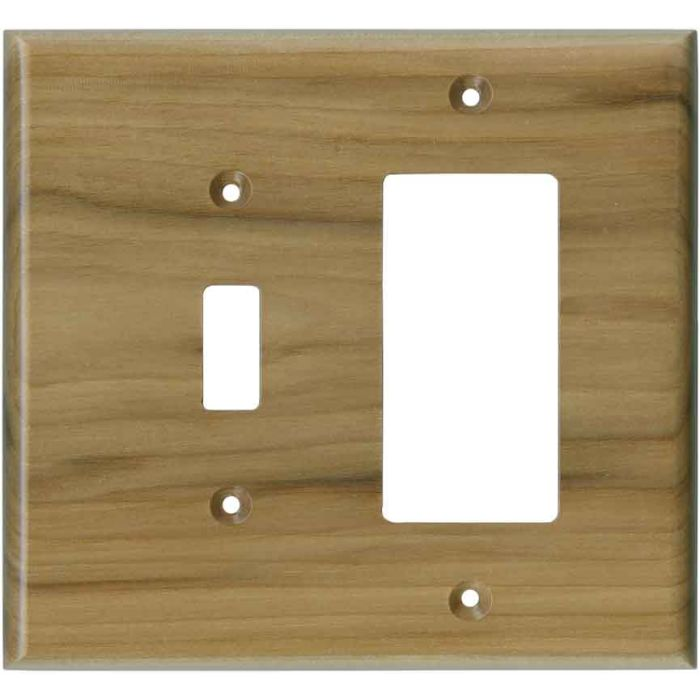 Hickory Satin Lacquer - Combination 1 Toggle/Rocker Switch Covers