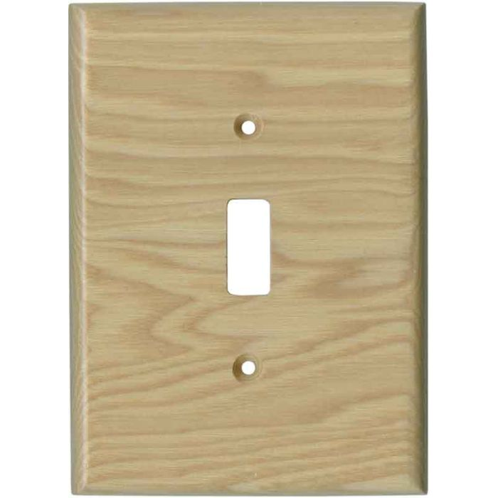 Hickory Satin Lacquer 1 Toggle Light Switch Cover
