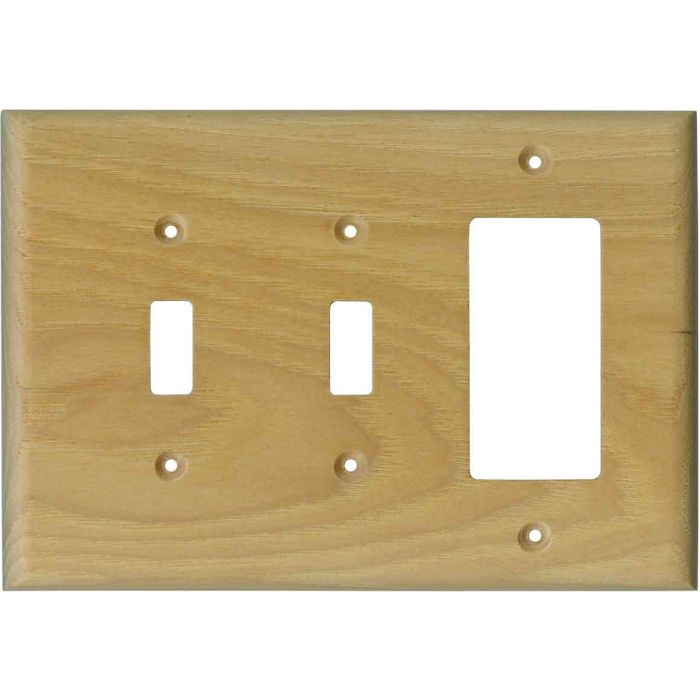 Hickory Satin Lacquer - 2 Toggle/1 GFCI Rocker Switchplates