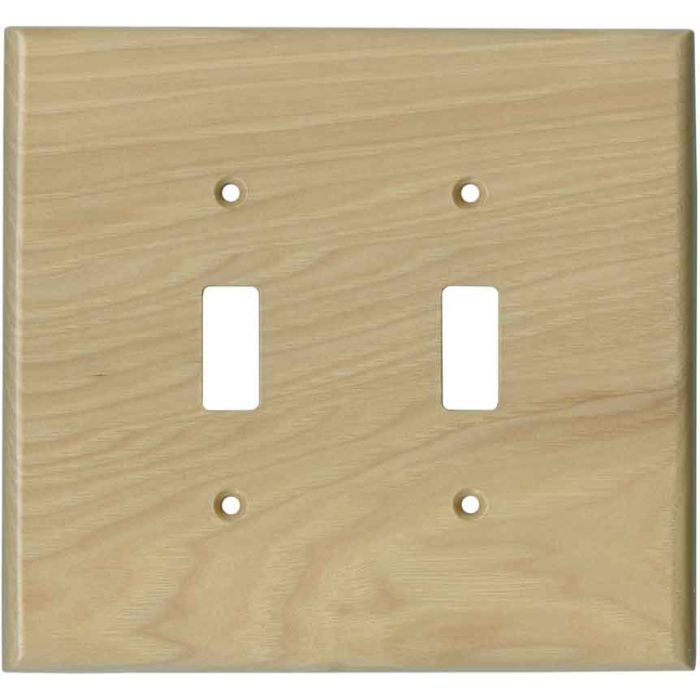 Hickory Satin Lacquer - 2 Toggle Switch Plate Covers