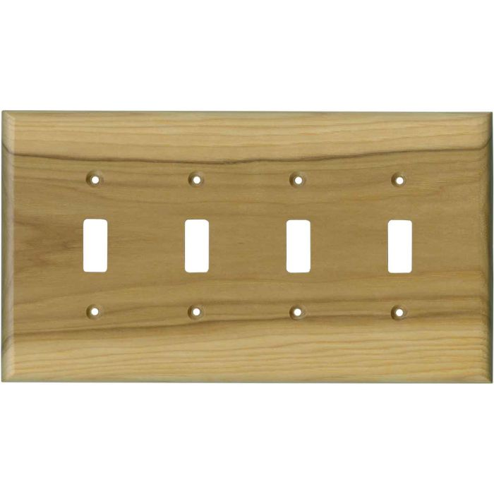 Hickory Satin Lacquer - 4 Toggle Light Switch Covers