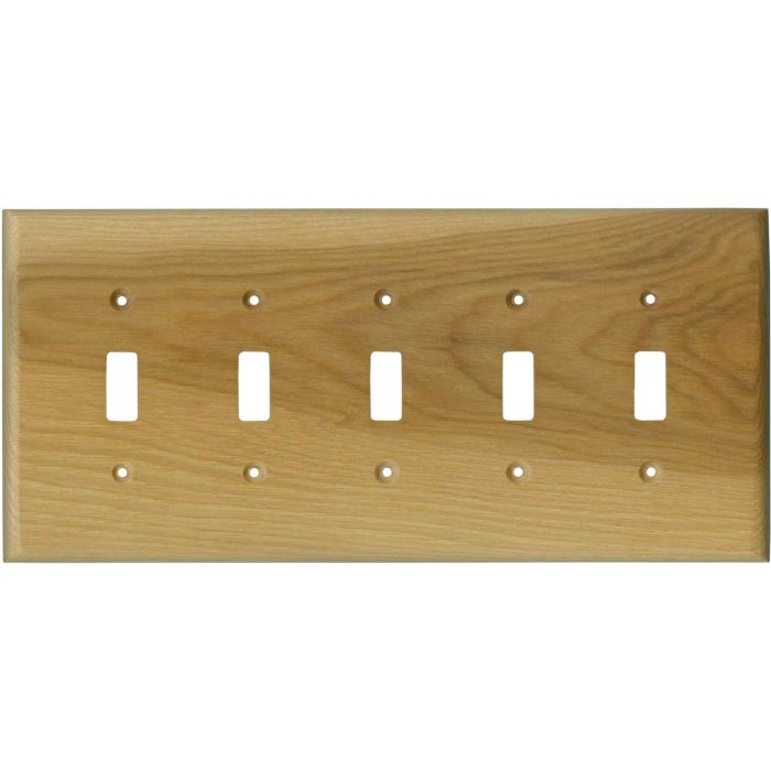 Hickory Satin Lacquer 5 Toggle Wall Switch Plates