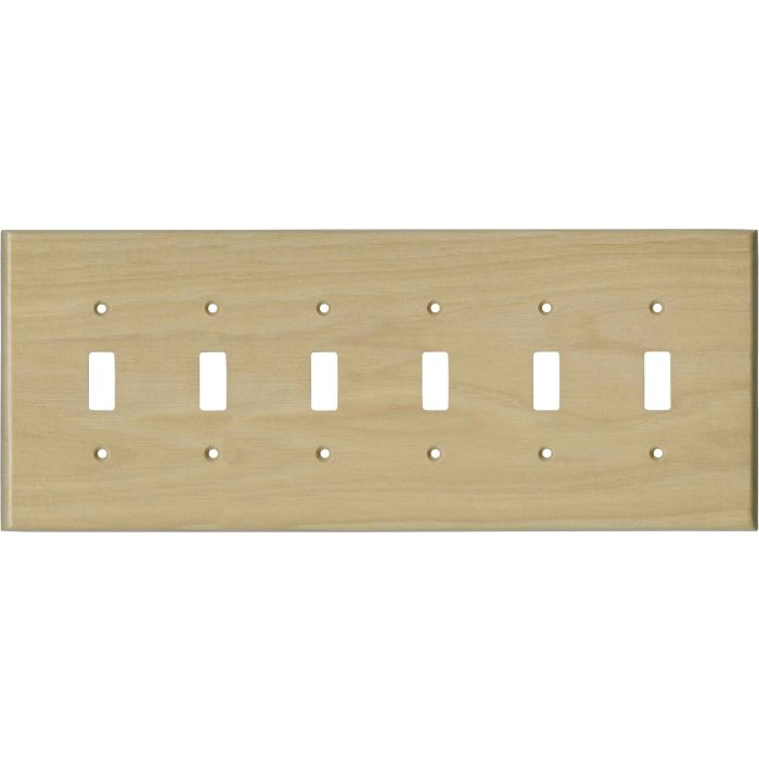Hickory Satin Lacquer 6 Toggle Wall Plate Covers
