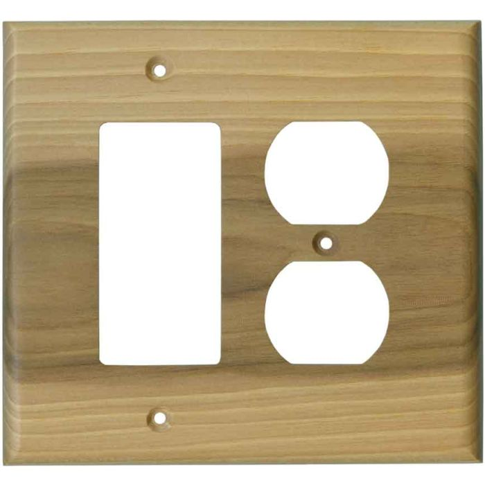 Hickory Satin Lacquer 1-Gang GFCI Decorator Rocker Switch Plate Cover