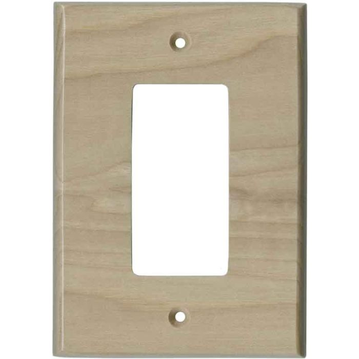 Hickory Unfinished - GFCI Rocker Switch Plate Covers