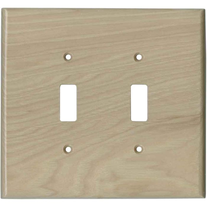Hickory Unfinished - 2 Toggle Switch Plate Covers