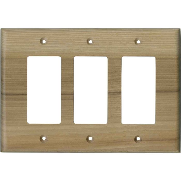 Hickory Unfinished - 3 Rocker GFCI Decora Switch Covers