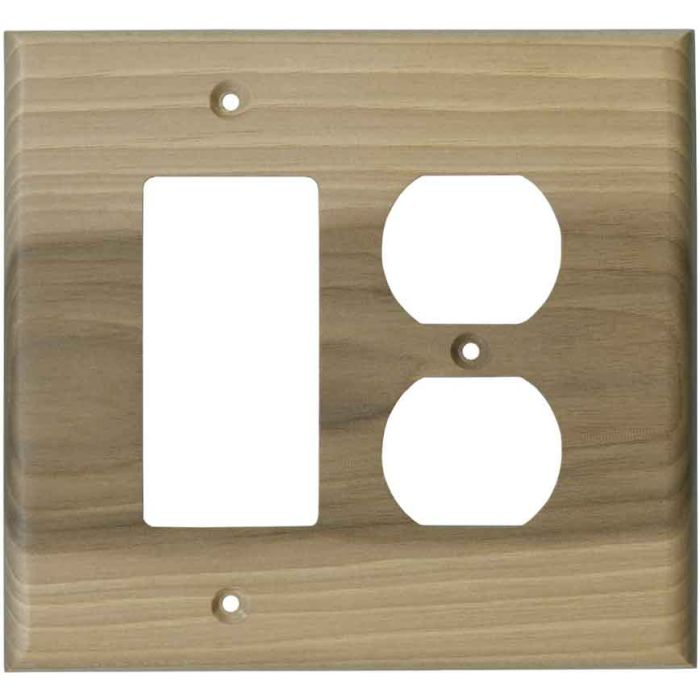 Hickory Unfinished - GFCI Rocker/Duplex Outlet Wall Plates