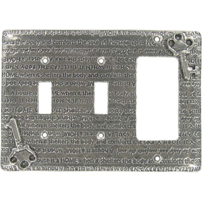 Home Double 2 Toggle / 1 GFCI Rocker Combo Switchplates