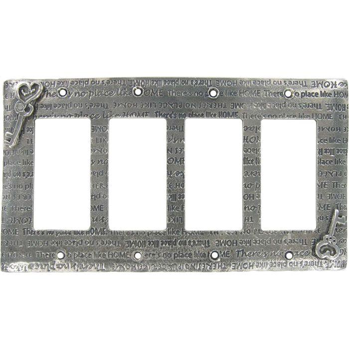 Home 4 Rocker GFCI Decorator Switch Plates