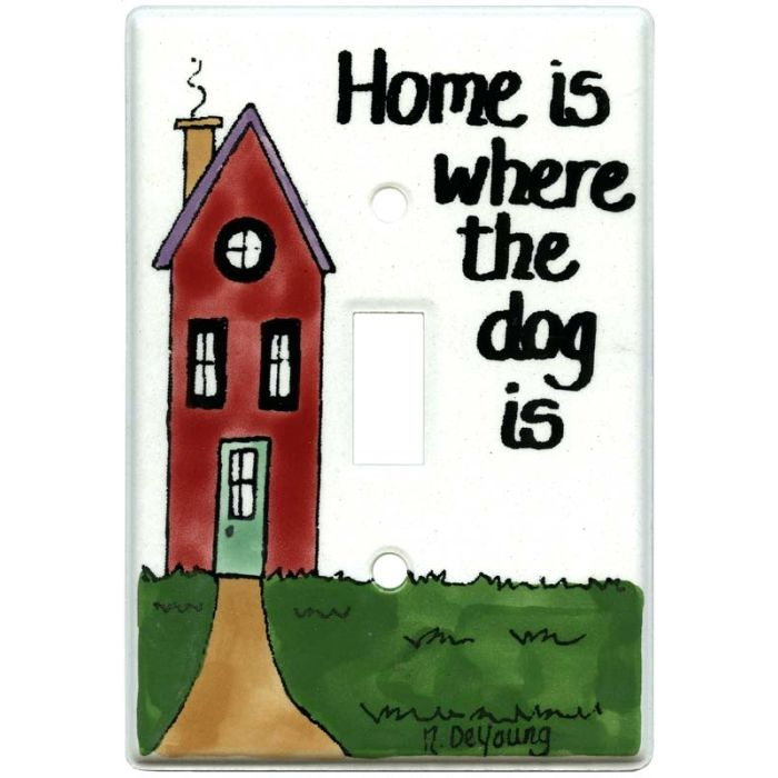 Home and Dog 1 Toggle Light Switch Cover