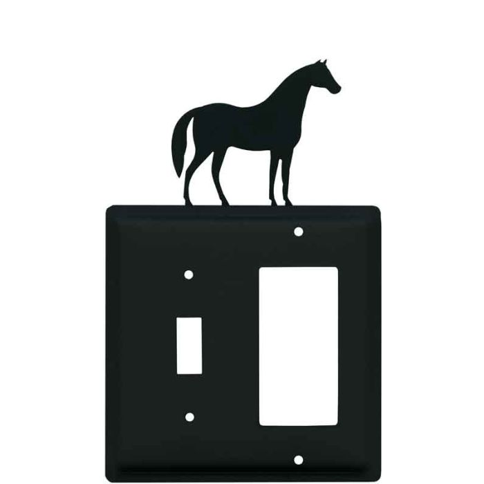 Horse Combination 1 Toggle / Rocker GFCI Switch Covers
