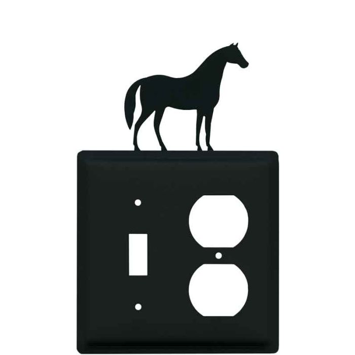 Horse Combination 1 Toggle / Outlet Cover Plates