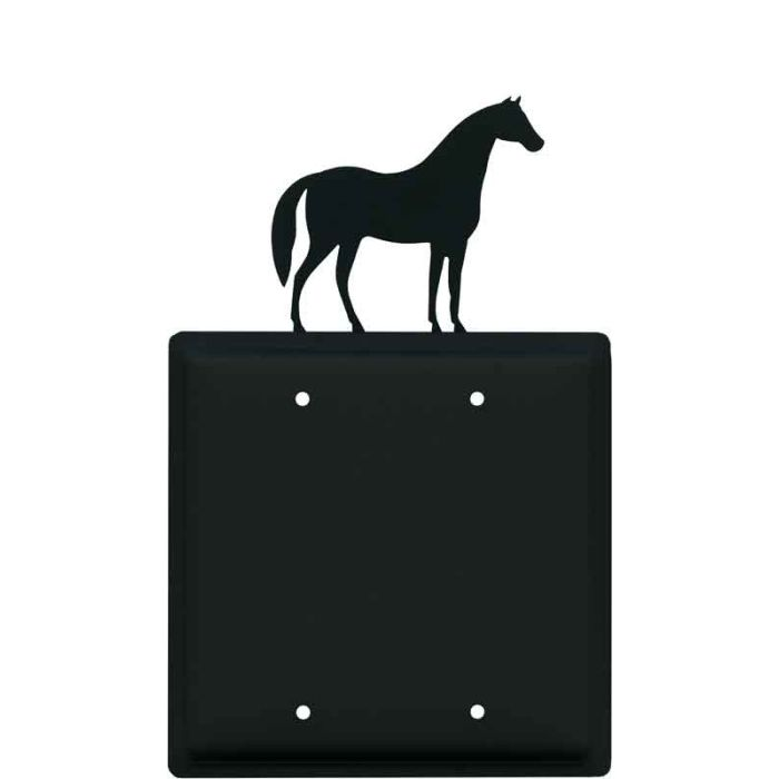 Horse Double Blank Wallplate Covers