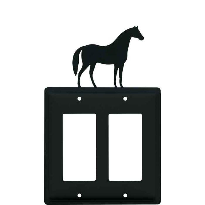 Horse 2 Gang Double GFCI Rocker Decorator Wallplates