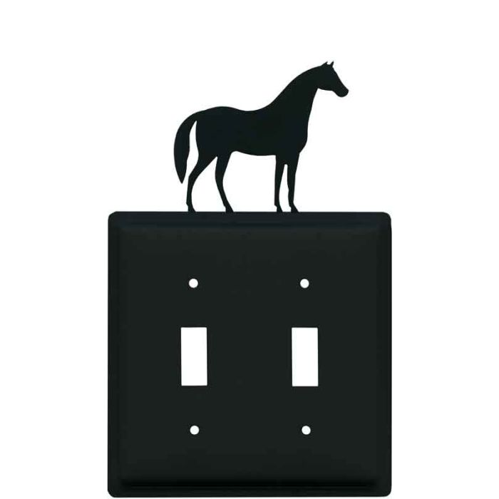 Horse Double 2 Toggle Switch Plate Covers