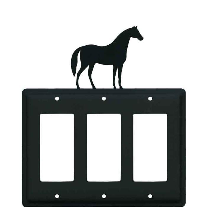 Horse Triple 3 Rocker GFCI Decora Light Switch Covers