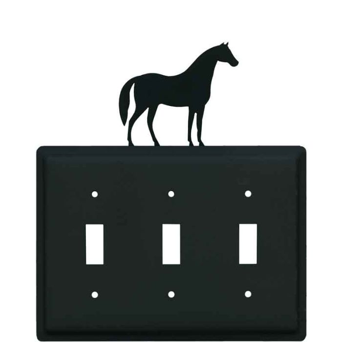 Horse Triple 3 Toggle Light Switch Covers