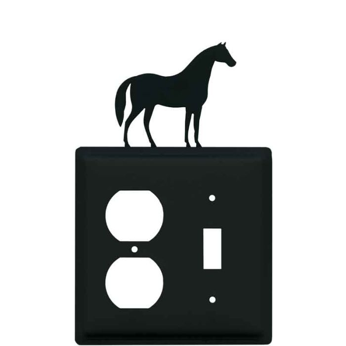 Horse 1-Duplex / 1-Toggle - Combination Wall Plates