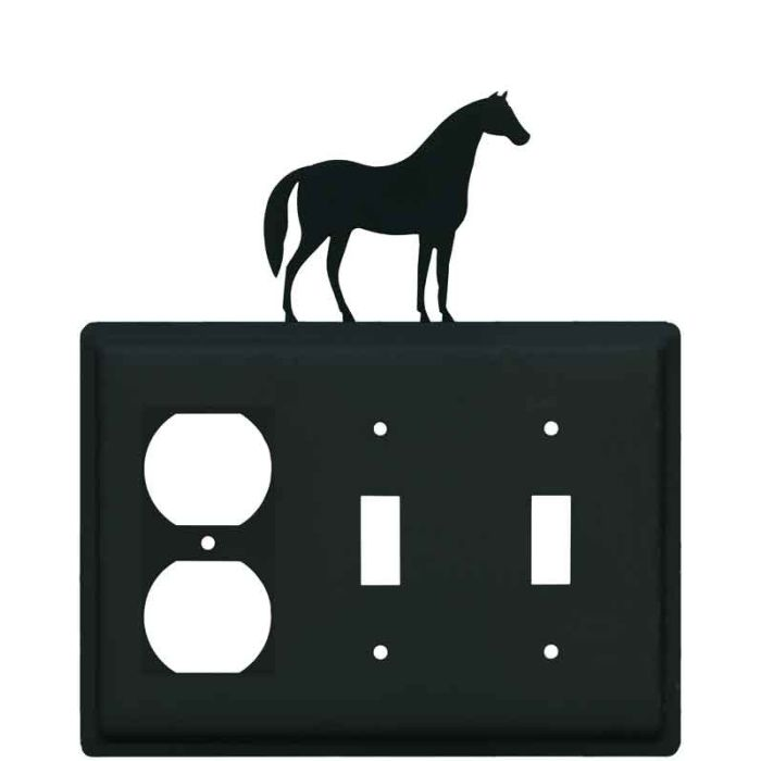 Horse 1 - Gang Duplex Outlet Cover Wall Plate