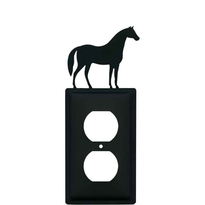 Horse 1 Gang Duplex Outlet Cover Wall Plate