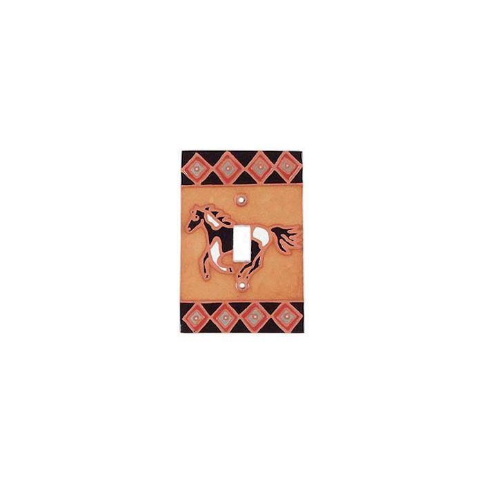 Horse Diamond Single 1 Toggle Light Switch Plates