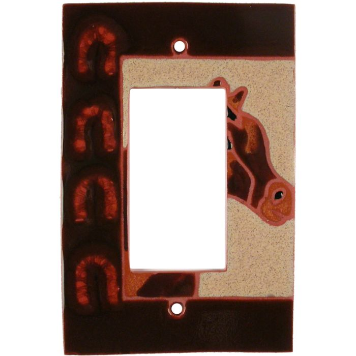Horse - Shoes - GFCI Rocker Switch Plate Covers