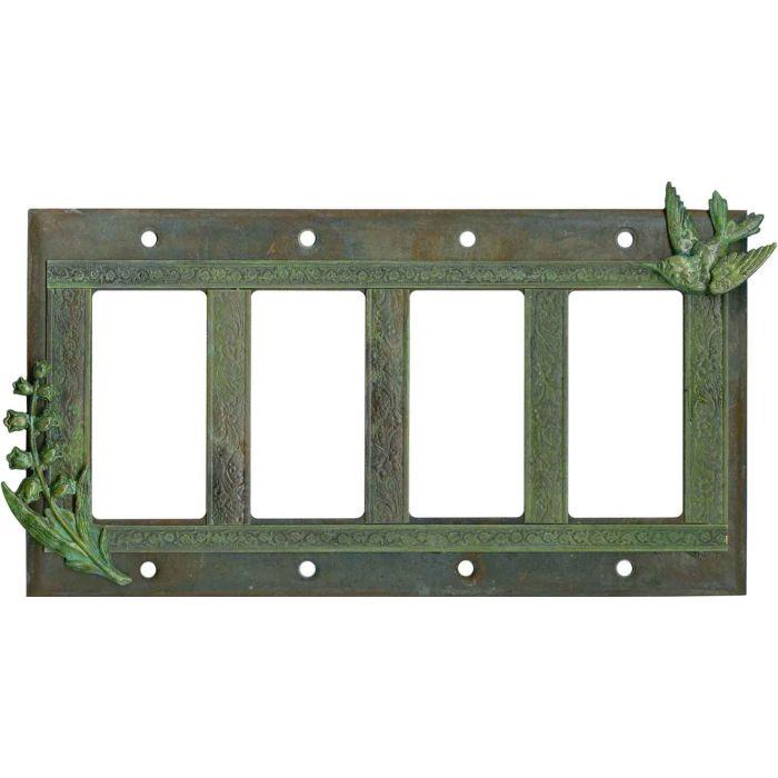 Hummingbird 4 Rocker GFCI Decorator Switch Plates