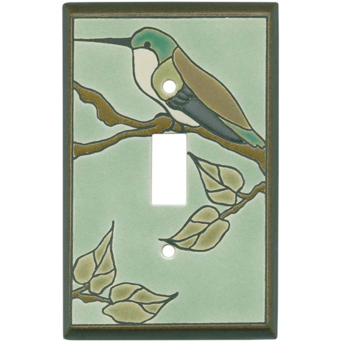 Hummingbird on Branch Single 1 Toggle Light Switch Plates