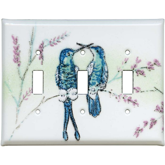 Hummingbirds Triple 3 Toggle Light Switch Covers
