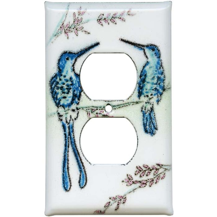 Hummingbirds 1 Gang Duplex Outlet Cover Wall Plate