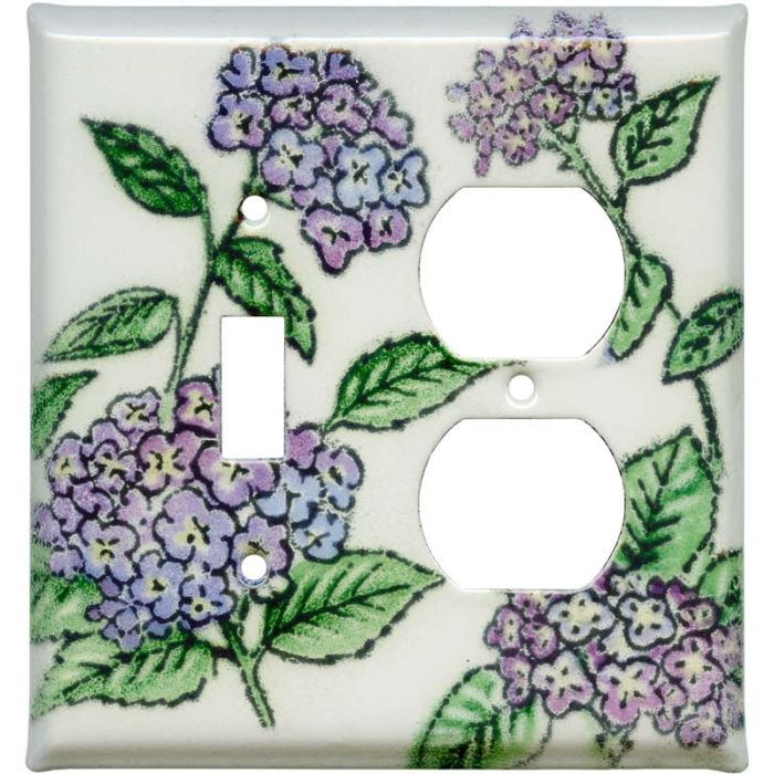 Hydrangea Combination 1 Toggle / Outlet Cover Plates