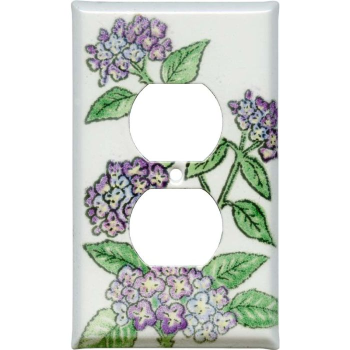 Hydrangea 1 Gang Duplex Outlet Cover Wall Plate