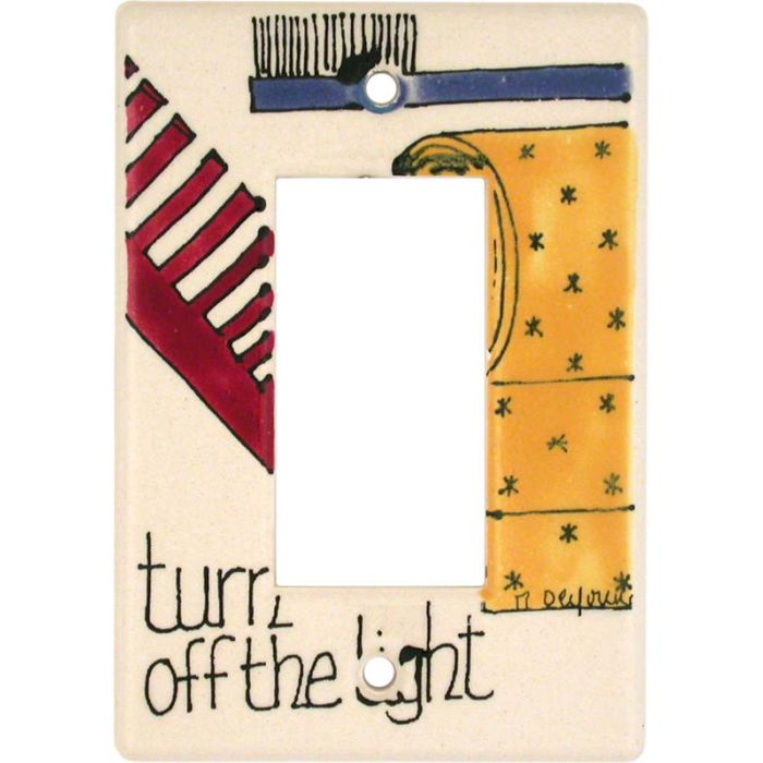 In the Bathroom Single 1 Gang GFCI Rocker Decora Switch Plate Cover
