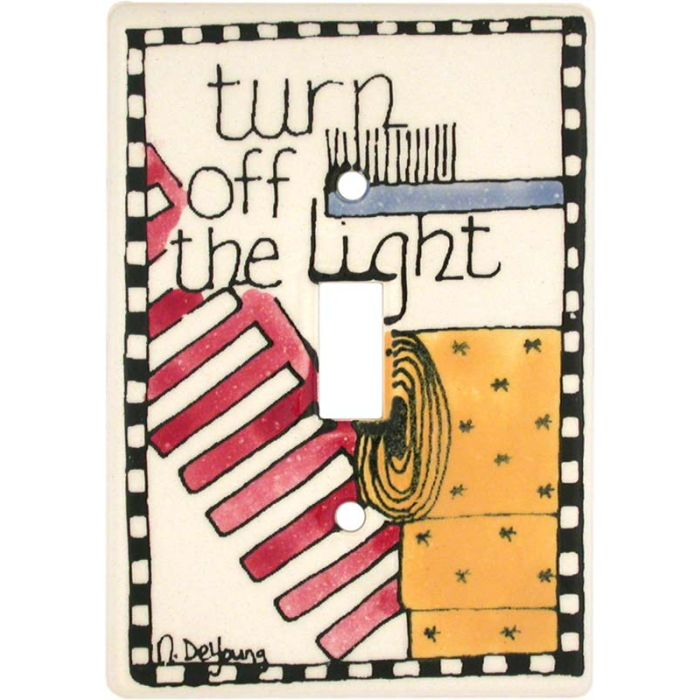 In the Bathroom 1 Toggle Light Switch Cover