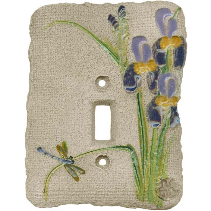 Iris Purple Single 1 Toggle Light Switch Plates