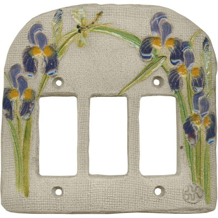 Iris Purple3 - Rocker / GFCI Decora Switch Plate Cover