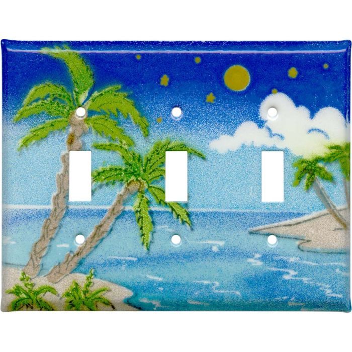 Island Triple 3 Toggle Light Switch Covers