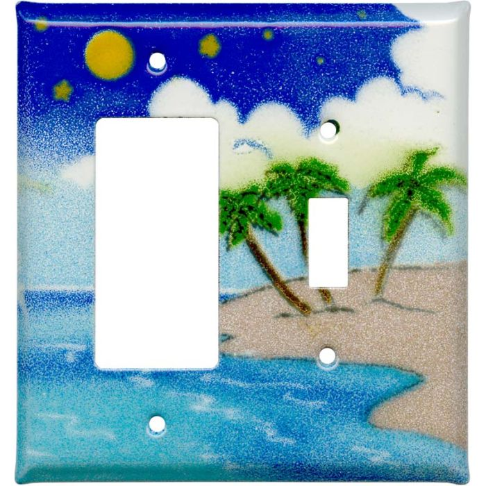Island 1-Gang GFCI Decorator Rocker Switch Plate Cover