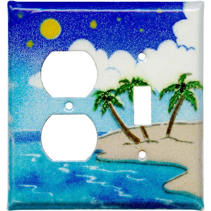 Island1-Duplex / 1-Toggle - Combination Wall Plates