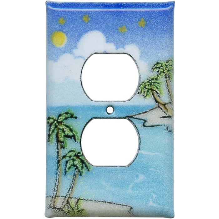 Island 1 Gang Duplex Outlet Cover Wall Plate