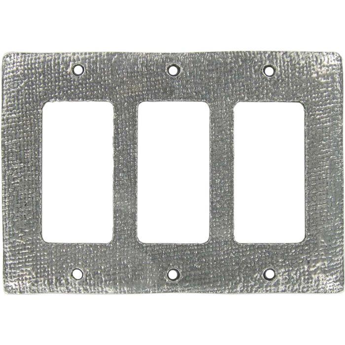 Jute Triple 3 Rocker GFCI Decora Light Switch Covers