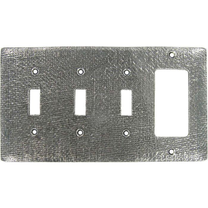 Jute Triple 3 Toggle / 1 Rocker GFCI Switch Covers