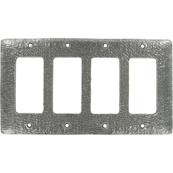 Jute 4 Rocker GFCI Decorator Switch Plates