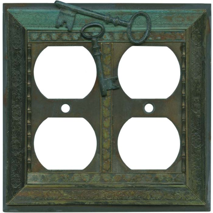 Keys 2 Gang Duplex Outlet Wall Plate Cover