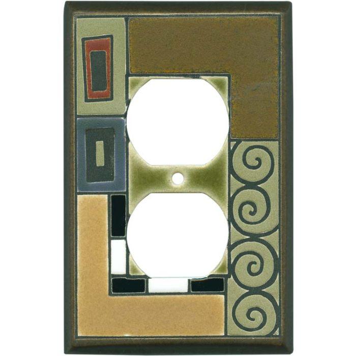 Klimt Ceramic 1 Gang Duplex Outlet Cover Wall Plate