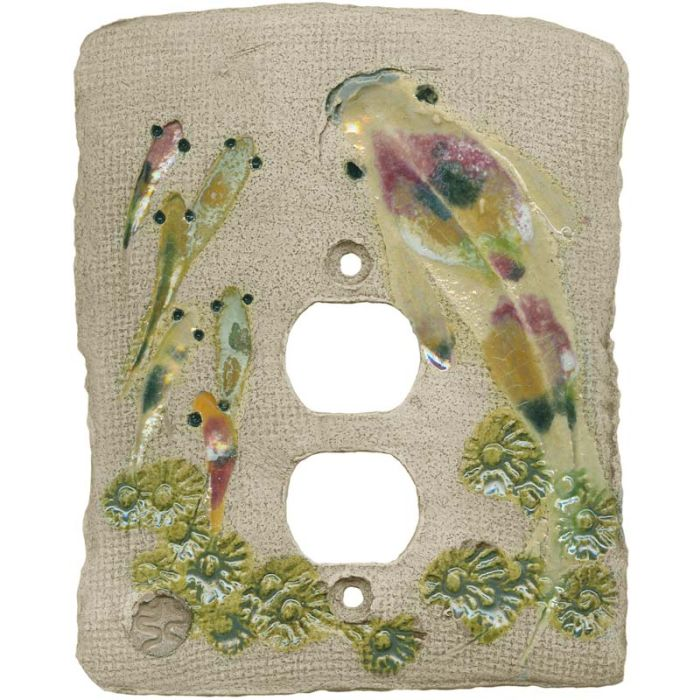 Koi Fish 1 Gang Duplex Outlet Cover Wall Plate